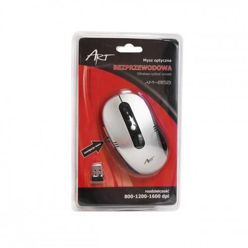 ART Mysz bezprzewodowo-optyczna AM-85B srebrna