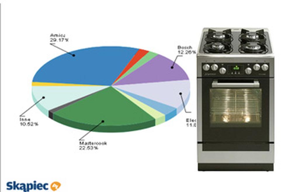 Ranking kuchenek gazowych i elektrycznych - lipiec 2011