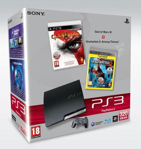 PS3 SLIM 320GB (God of War III +Uncharted 2)