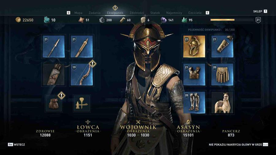 Assassin's Creed Odyssey - Ekwipunek skrytobójczyni