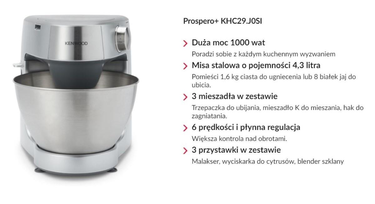 Kenwood Prospero+ KHC29.J0SI funkcje robota kuchennego