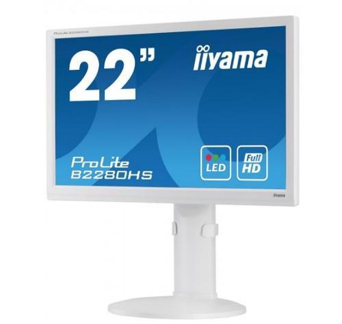 iiyama 22'' B2280HS-W1 DVI/HDMI/glosniki/pivot