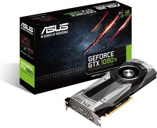 Asus GeForce GTX 1080 Ti Founders Edition 11GB GDDR5X (352 bit), HDMI, 3x DP, BOX (GTX1080TI-FE)