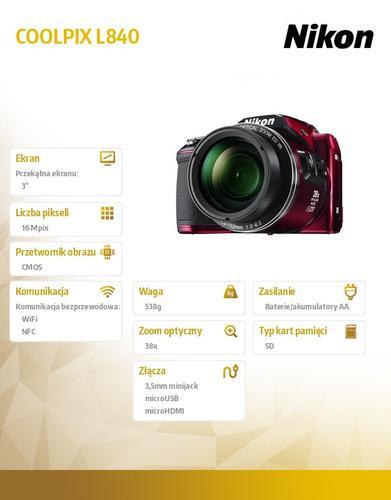 Nikon L840 red