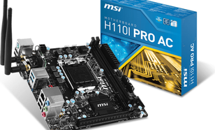 MSI H110I PRO AC, H110, DualDDR4-2133, SATA3, M.2 ,HDMI, DVI, USB 3.1, mITX