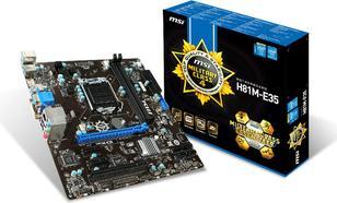 MSI H81M-E35 V2 H81 (LGA1150/mATX/SATA3/HDMI/DVI/VGA/DDR3/USB3.0)