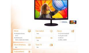Philips 23.6'' 247E6QDAD LED FHD,IPS,HDMI Wiśniowy/Czarny