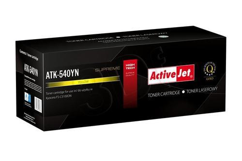 ActiveJet ATK-540YN toner Yellow do drukarki Kyocera (zamiennik Kyocera TK-540Y) Supreme