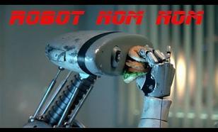 Człowiek Udający Jedzącego Robota