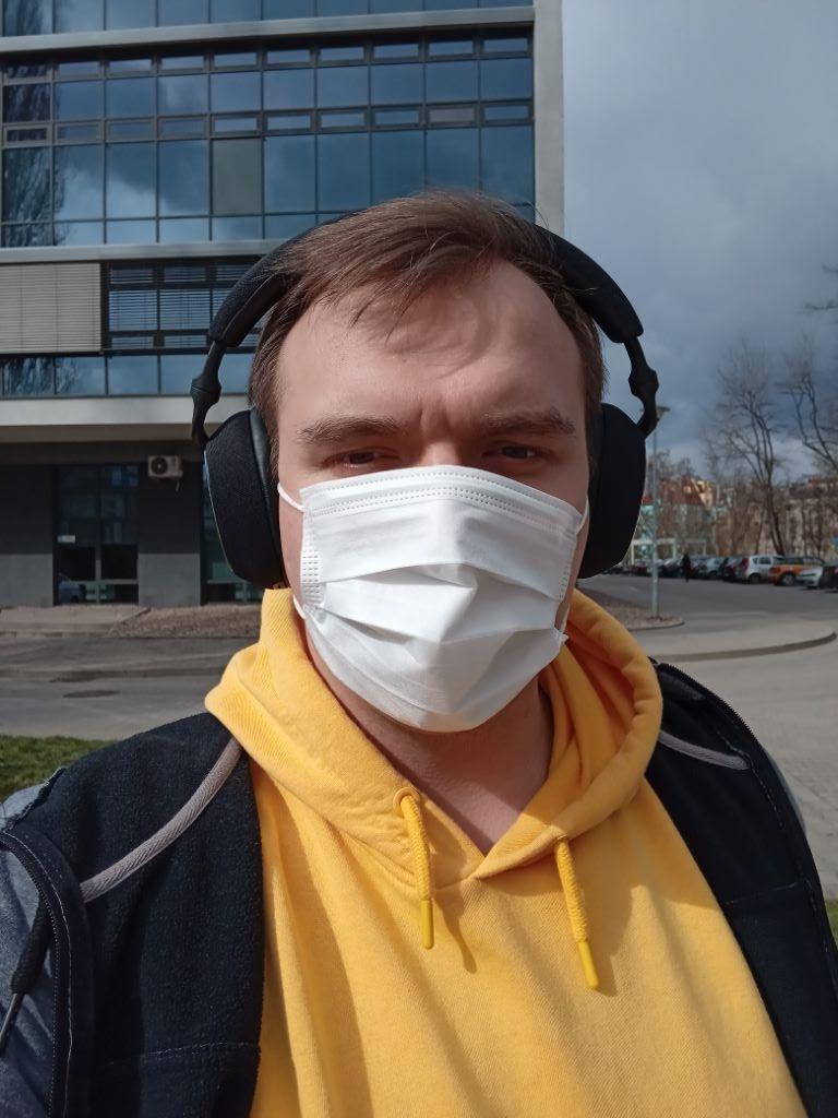 Aparat przedni LG K52 z maską