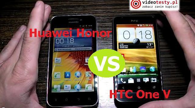 Porównanie: HTC One V vs Huawei Honor