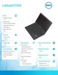 "Dell Latitude E7450 Win78.1Pro(64-bit win8, nosnik) i5-5300U/256GB/8GB/BT 4.0/4-cell/Office 2013 Trial/UMA/KB-Backlit/14""/3Y NBD"