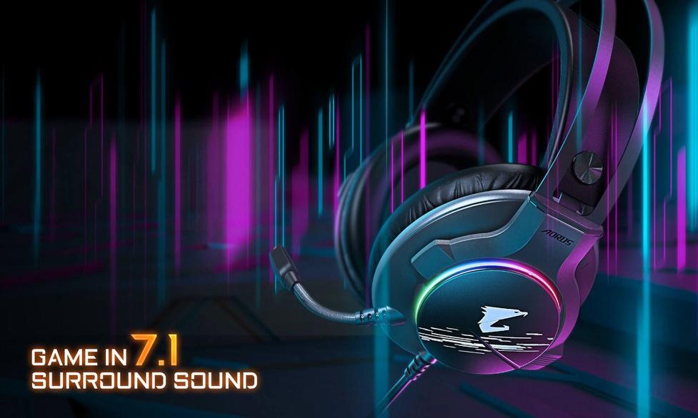 Nowy gamingowy headset AORUS H1 od Gigabyte