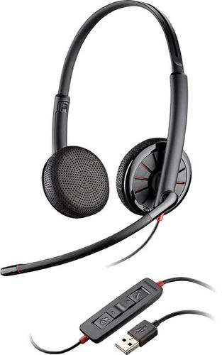 Plantronics Blackwire C325-M stereo USB mikrofon, redukcja