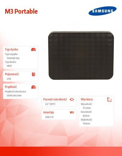 Samsung M3 Portable 2TB USB3.0 zewn STSHX-M201TCB