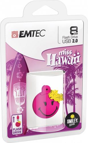EMTEC Pendrive 8GB Smilley World Miss Hawaii P