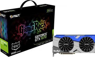 Palit GeForce CUDA GTX1070 Gamerock Premium 8GB GDDR5 (256 Bit) DVI, 3xDP, HDMI (NE51070H15P2G)