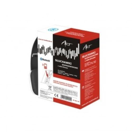 ART Słuchawki bluetooth z mikrofonem AP-B01W białe