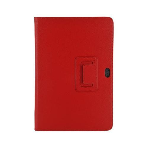 4World Etui - stojak dla Galaxy Tab 10.1, dwa ustwienia, czerwone