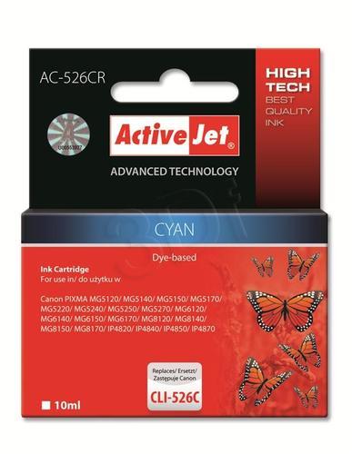 ActiveJet AC-526CR tusz cyan do drukarki Canon (zamiennik Canon CLI-526C) Premium/ chip
