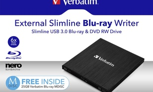 Verbatim Zewnętrzna nagrywarka Blu-ray Slimline USB 3.0 (43890)