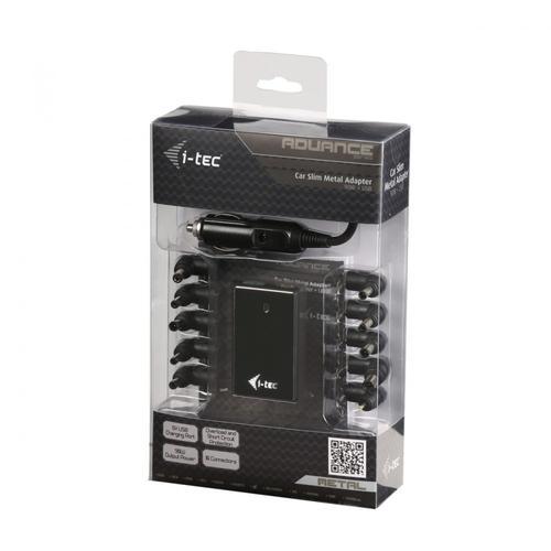 Dicota i-tec Car Slim Metal Adapter 90W 1x USB port zasilacz samochodowy z 10 konektorami do notebooków Acer Asus Compaq Dell HP IBM Lenovo Sony Toshiba Fuji