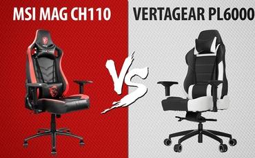 Fotel gamingowy za 1500 zł - MSI MAG CH110 vs Vertagear PL6000