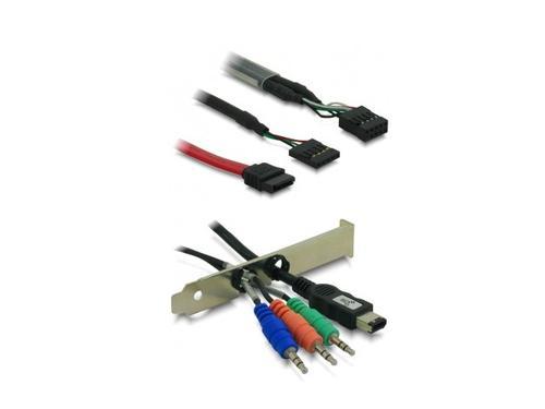 DELOCK Frontpanel Multi 34in1 USB/AUDIO/ESATA/FIREWIRE/CZYTNIK Biały