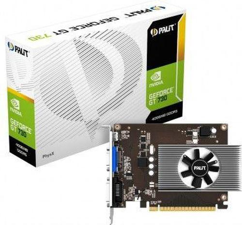 Palit GeForce GT730 4GB GDDR5 (64 Bit) D-Sub, mHDMI, DVI, BOX (NE5T730013G6F)