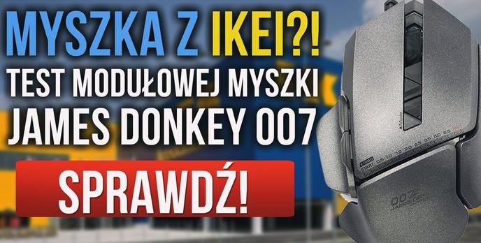 MYSZKA Z IKEI?! Recenzja Modułowej Myszki James Donkey 007