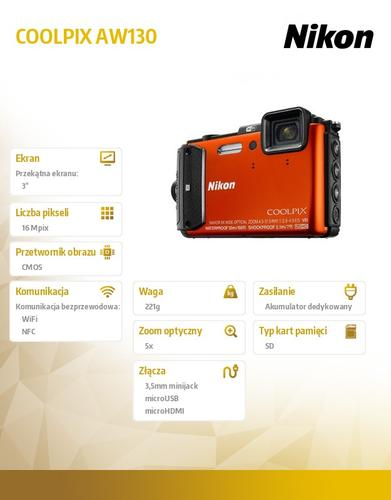 Nikon AW130 orange