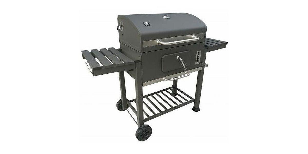 grill węglowy z kółkami