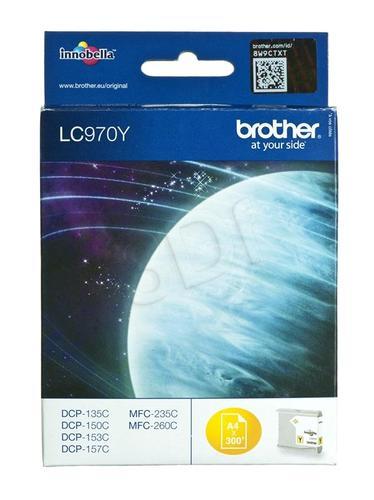 BROTHER Tusz Żółty LC970Y=LC-970Y, 300 str.
