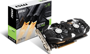 MSI GeForce GTX 1060 3GT OC 3GB GDDR5 (192 Bit) DP, HDMI, DVI, BOX