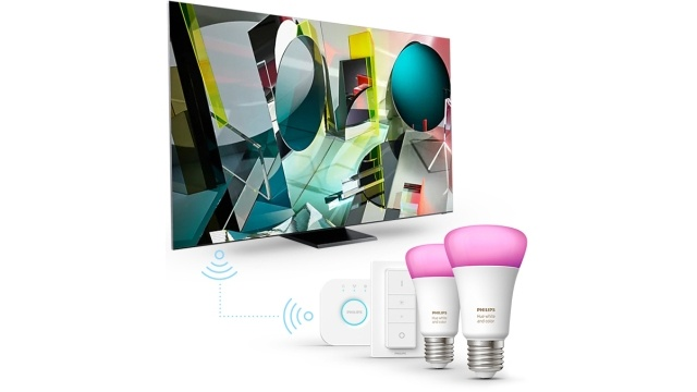 Kupno telewizoru QLED od Samsunga uprawnia do otrzymania zestawu Philips Hue