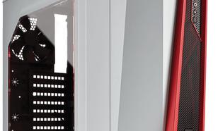 Corsair SPEC-ALPHA Midi-Tower, Biało-czerwony, Okno (CC-9011083-WW)