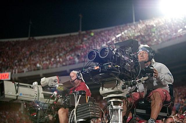 Mecz piłki nożnej w 3D na żywo