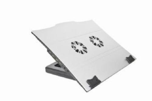 GEMBIRD Podstawka pod notebooka 2FAN+USB HUB 4 porty ALU