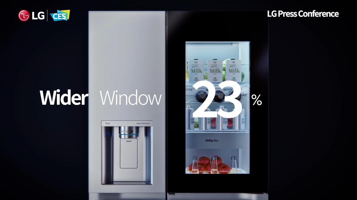 Większy panel w lodówce LG