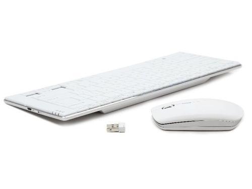 GEMBIRD Zestaw bezprzewodowy 2.4GHz Klawiatura+Mysz PHOENIX Slimline White