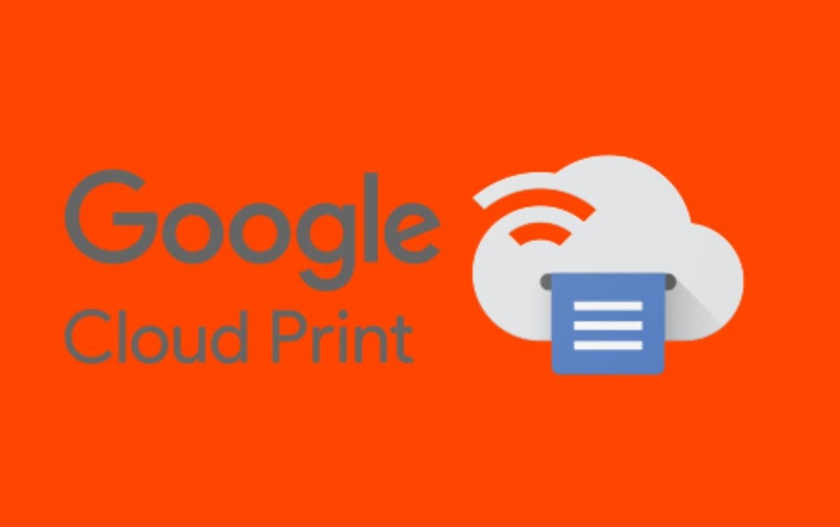 Logo Cloud Print na pomarańczowym tle