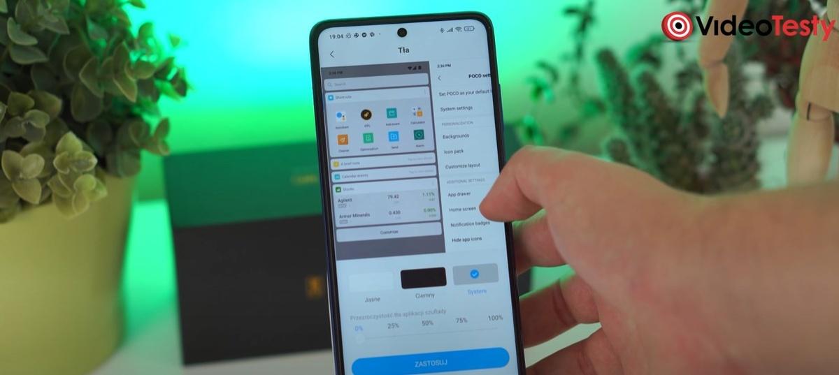 POCO X3 NFC pozwala nawet na zmianę tła w menu głównym