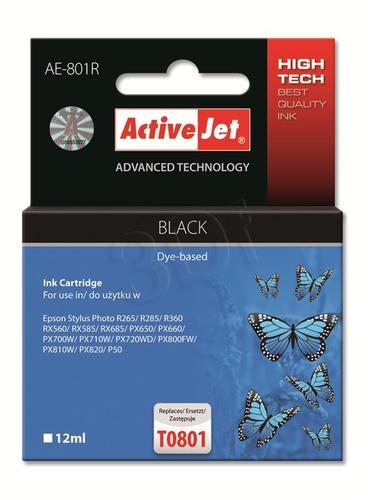 ActiveJet AE-801R tusz czarny do drukarki Epson (zamiennik Epson T0801) Premium