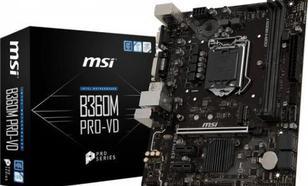 MSI B360M PRO-VD s1151 B360 2DDR4 DVI/VGA/ M.2 UATX