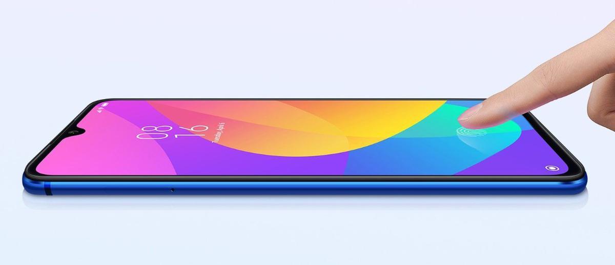 Xiaomi Mi 9 Lite posiada czytnik linii papilarnych pod ekranem