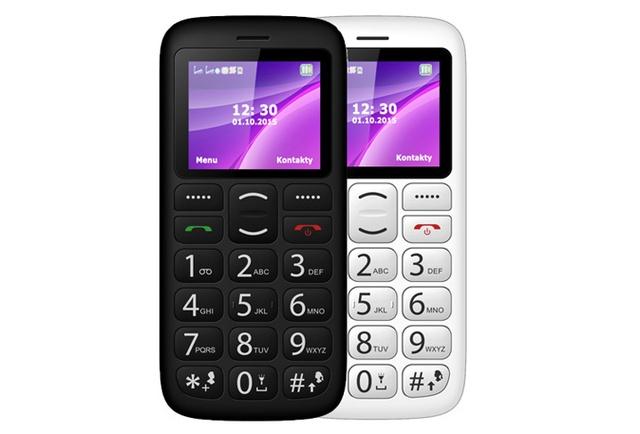 myphone simply 2 czarny i biały