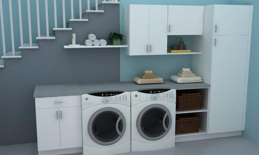 domowa pralnia z dwoma pralkami
