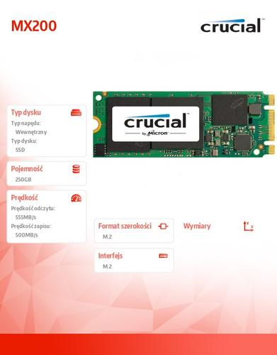 Crucial MX200 250GB M.2 2260DS