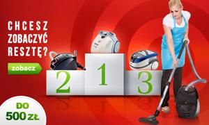 Topowe Odkurzacze Do 500 zł - Ranking Styczeń 2015
