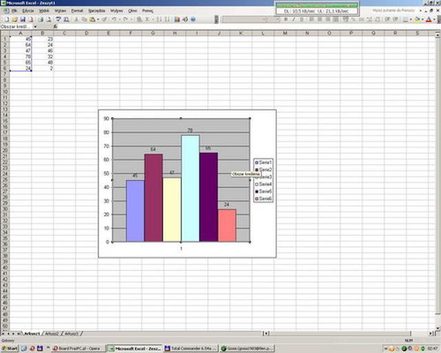 PORADA: Dostosowanie wykresów oraz wartości tabeli za pomocą myszy w Excel XP, 2003, 2007